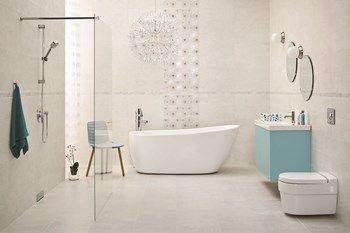 nirrad-niro - Duża łazienka w domu jednorodzinnym jako salon kąpielowy z oknem, styl skandynawski - zdjęcie od Ceramika Paradyż