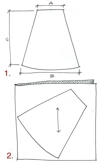 How to make a pattern for an A-line skirt and how to make the skirt.