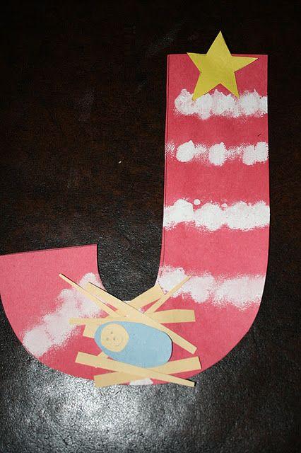"""""""J"""" is for Jesus. Preschool craft"""
