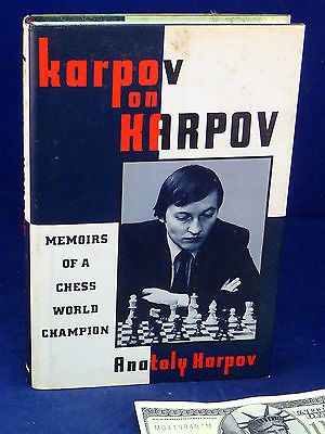 Chess Book Karpov on Karpov Memoirs Chess World Champion 1st Edition Hardcover Toys & Hobbies:Games:Chess:Contemporary Chess www.internetauctionservicesllc.com $59.99