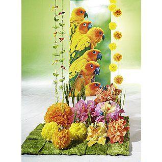 Dekoidee Bunter Frühling Blüten in allen Farbvariationen wirken luftig und bestechen dennoch durch ihre Farbe. Kolibris in Verbindung mit dem bunten Banner mit Papageimotiv wirken dabei verspielt.  http://www.decowoerner.com/de/Saison-Deko-10715/Fruehling-Ostern-10729/Komplette-Dekoideen-Fruehling-Ostern-11324/Dekoidee-Bunter-Fruehling-641.456.00.html