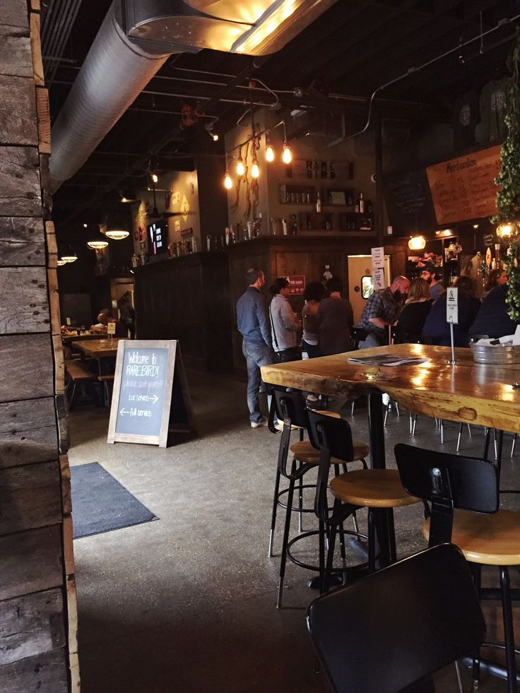 The Rare Bird serves craft beer in a rustic environment