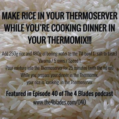 Rice in thermo server