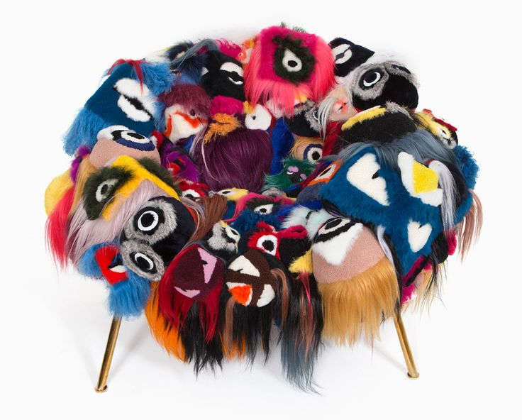 campana brothers create the armchair of a thousand eyes using fendi bag bugs