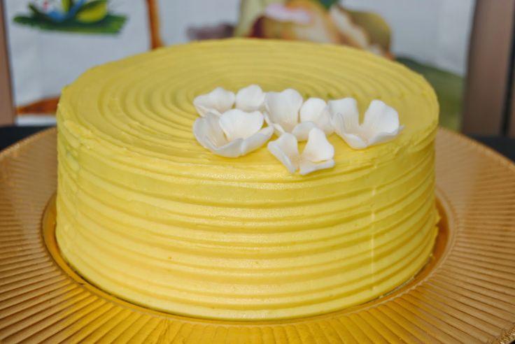 Tarta de crema de mantequilla de melocotón