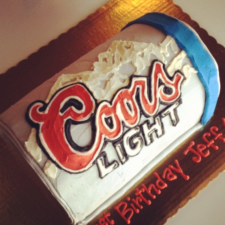 Coors Light Beer Can Cake by 2tarts Bakery New Braunfels ...