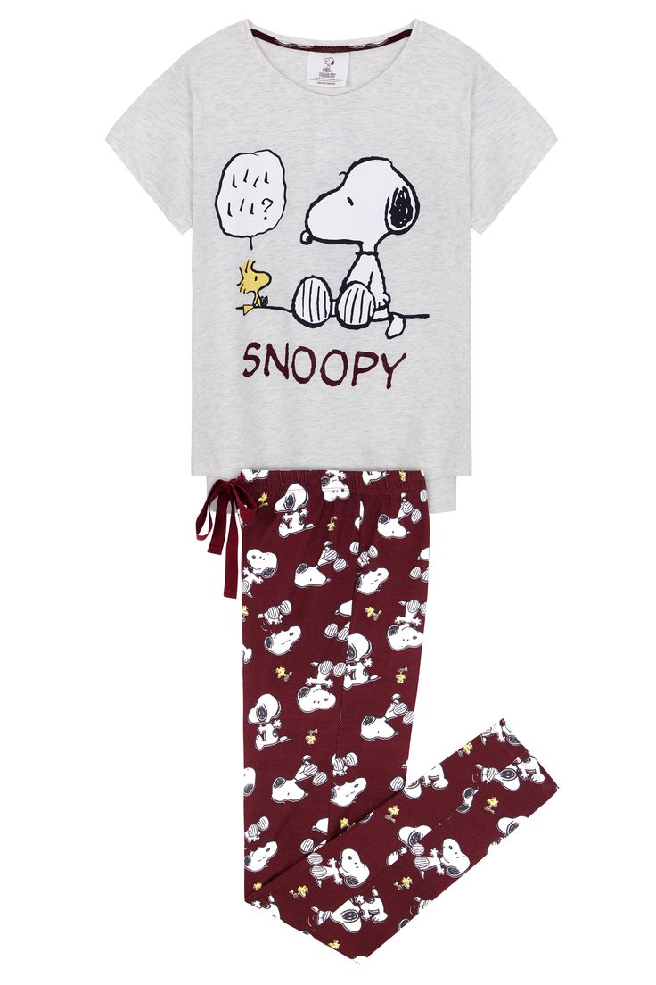 *WOMEN'SECRET || 'Snoopy' long pyjama | Pijama largo 'Snoopy'