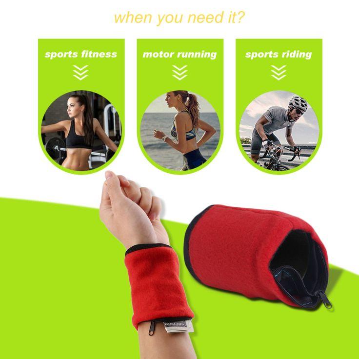 Wallet Wrist Band Fleece Zipper Travel Gym Cycling Sport Wallet Sweat Absorbtion Travel Sport Wrist Wallet Hiking Accessories #Affiliate