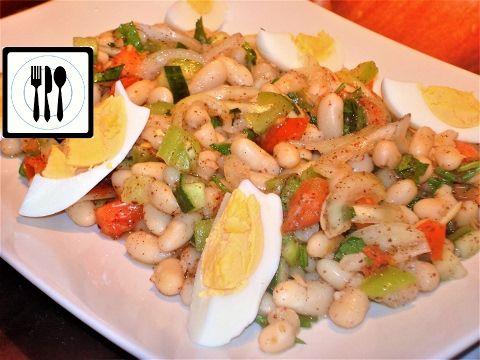 Салат из белой фасоли с помидорами - Пияз - Турецкая закуска