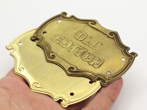 Retro Jewelry Blank Huge Raw Brass Stamping Blank
