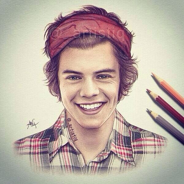 harry styles that 39 s a really good drawing one direction
