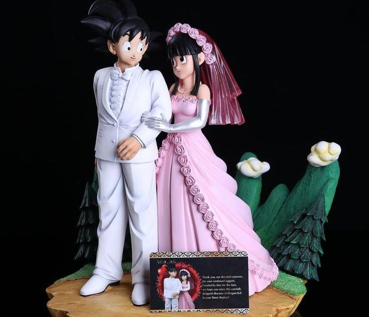 "GOKU AND CHICHI ( Dragon Ball collector ) Resin (34cm-25cm) / 3.6kgs  ""Marriage"" by MRC Corp ( HongKong - China )"