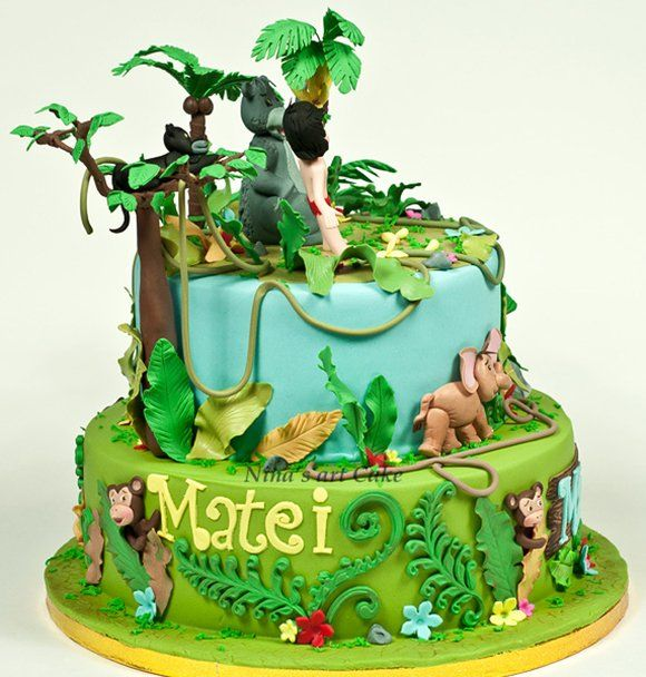 Disney Cake Decorating Book : 44 best Disney s Jungle Book Cakes images on Pinterest ...