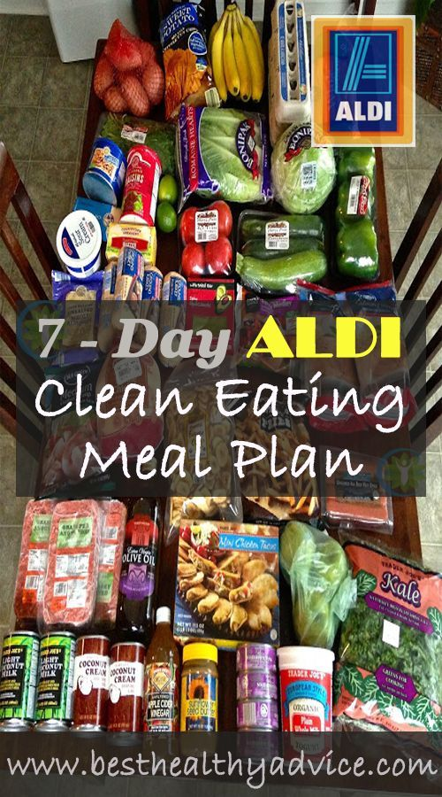 Who says eating healthy has to be expensive? Here is a sample 7-Day ALDI Clean Eating Plan.