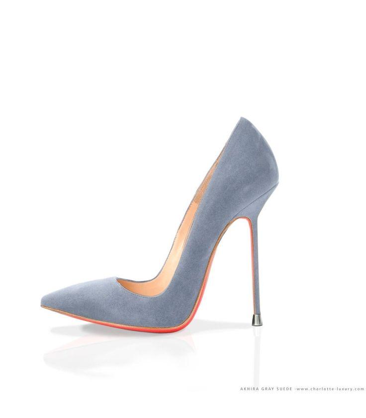 Akhira Gray Suede · Charlotte Luxury Shoes · Luxury High Heel Pumps · Di Marni · Custom made · Made to measure · Luxury Pumps High Heel Shoes · Stiletto