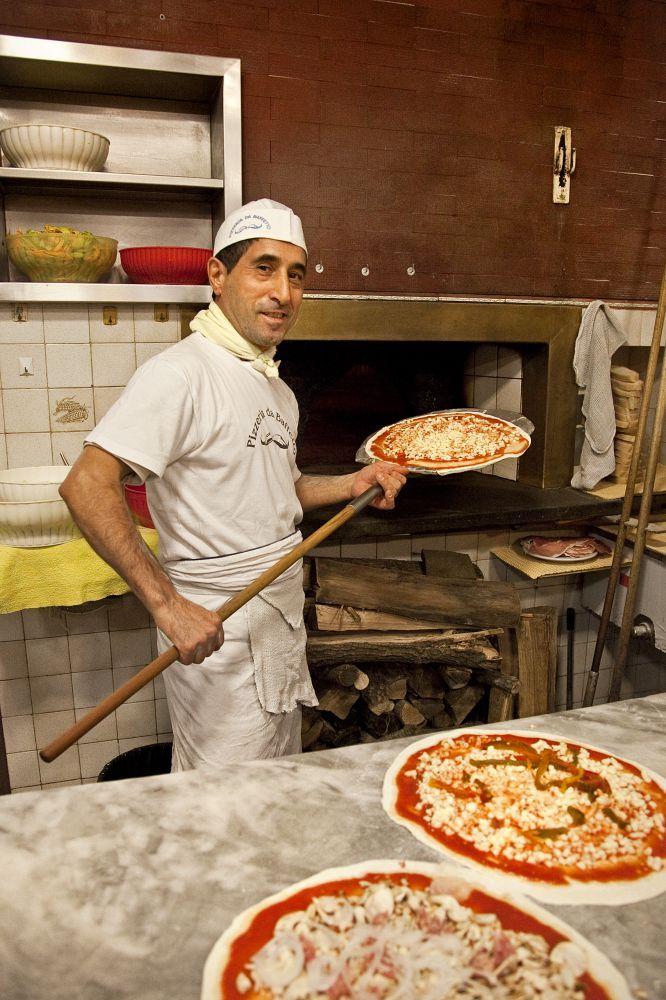 pizzas en el restaurante Baffetto, en Roma.