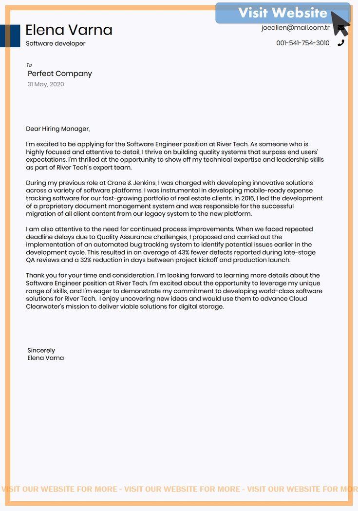 cover letter examples for quality assurance engineer in