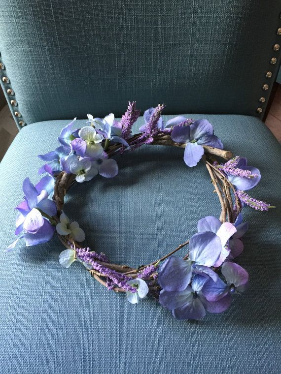 Hydrangea Floral Crown by creepypretty on Etsy