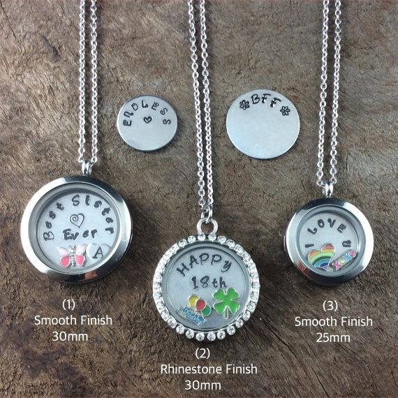 Floating Memory Locket Pendant-Design Your Own