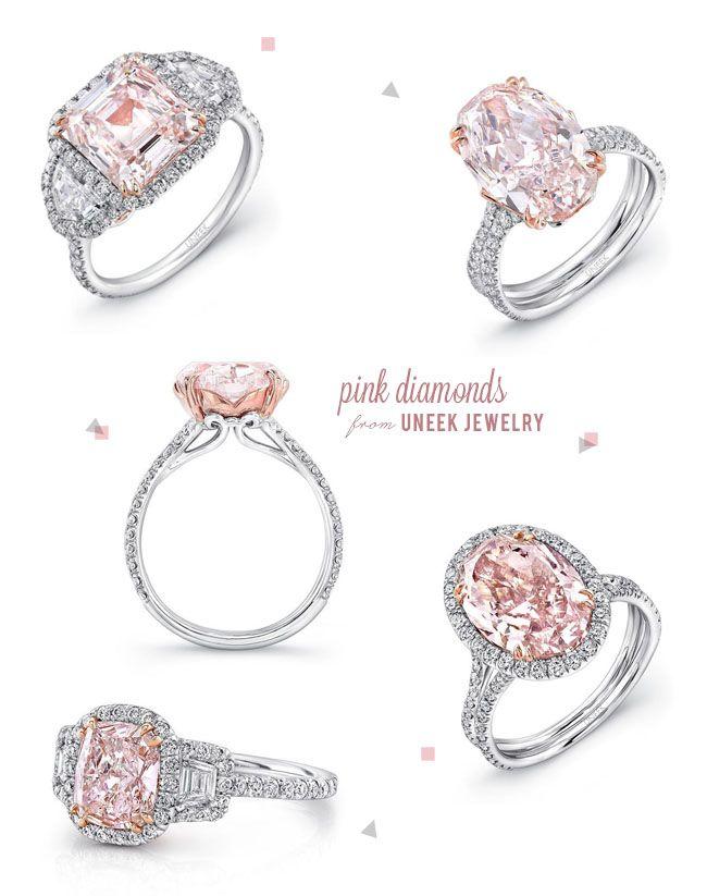 Pink engagement rings. #engagement #rings #pink