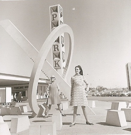 "The Sundial at Polo Park by artist James S Willer, ""A precise time machine, clean and geometric in form, pure elements unsupported into thin air"""