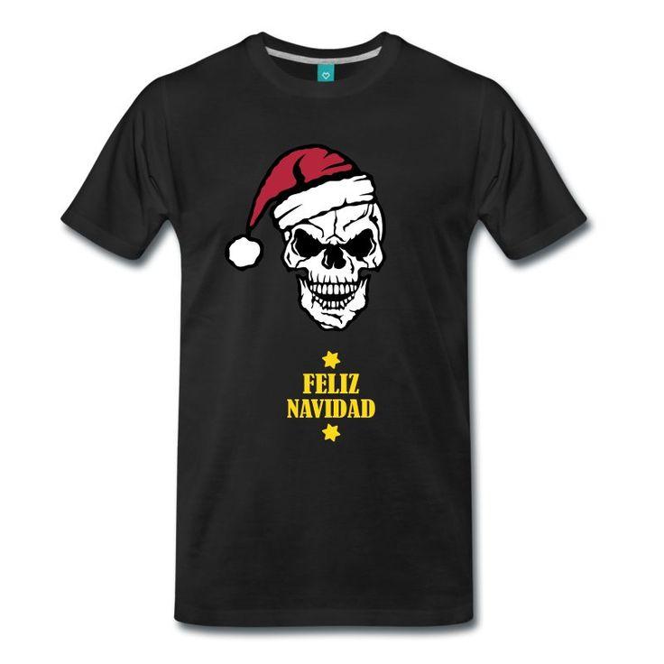 Para los mas Heavys de la familia esta terrible camiseta donde una calabera nos felicita las navidades.Con esta camiseta seguro que serás el más original. ¡Feliz Navidad 2017!