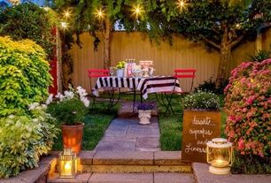 Eclectic Patio with Paint, Crate & barrel globe string lights, Pathway, Paint 1, Fence, six panel door, exterior stone floors