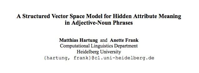 A Structured Vector Space Model for Hidden Attribute Meaning in Adjective-Noun Phrases