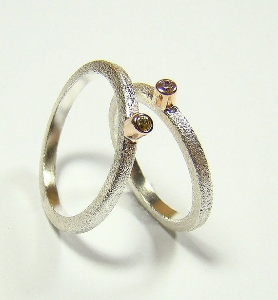 Great sterling silver with gold rings  choose your by DawidPandel, zł99.00