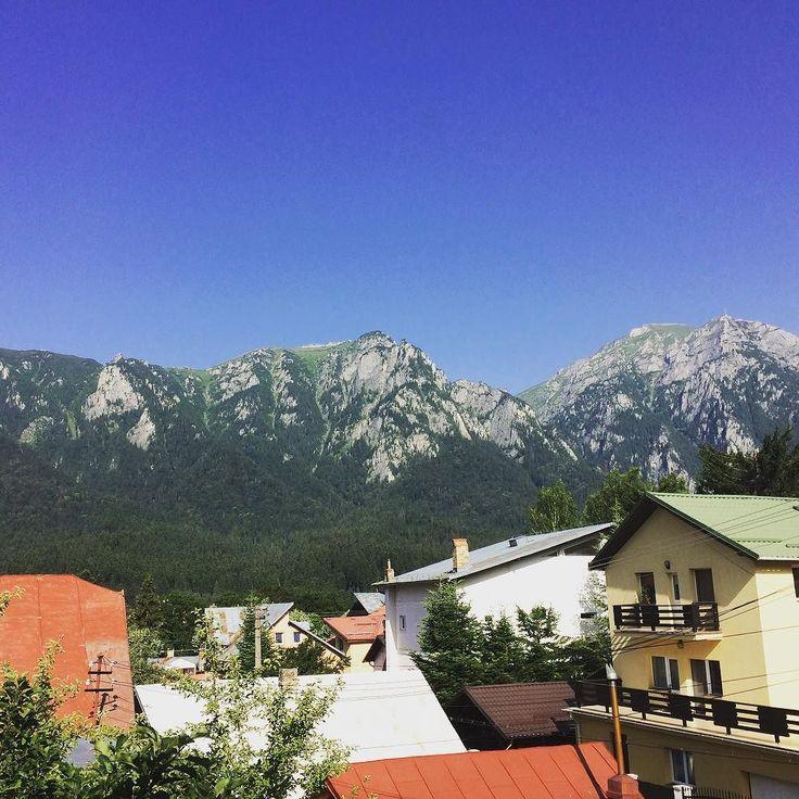 #lafereastramea #roomwithaview #mountains #weekend #forest #nature #wildnature #genuine #bluesky #presainblugi Asa m-am trezit in aceasta dimineata. Am schimbat canicula din Bucuresti cu tabloul asta