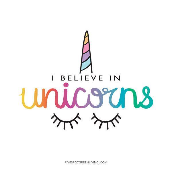 I Believe In Unicorn Rainbow Quote Print
