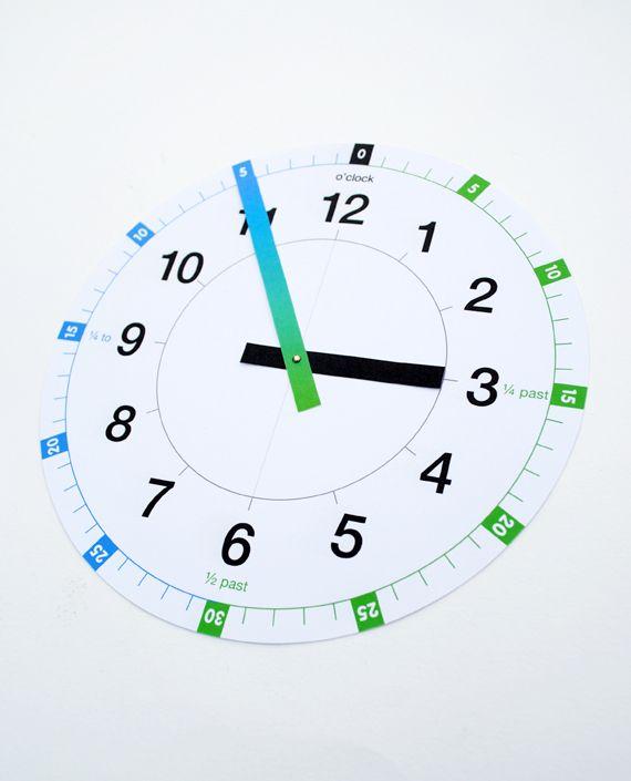 digital printables | Digital Clock Template Printable As, usual printable files are