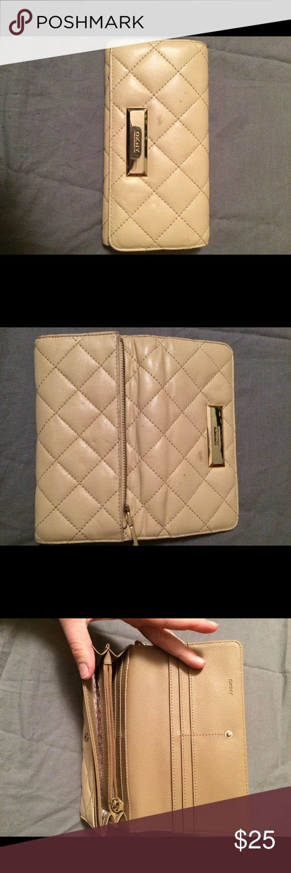Selling this DKNY leather quilted wallet on Poshmark! My username is: jkm5017. #shopmycloset #poshmark #fashion #shopping #style #forsale #Handbags