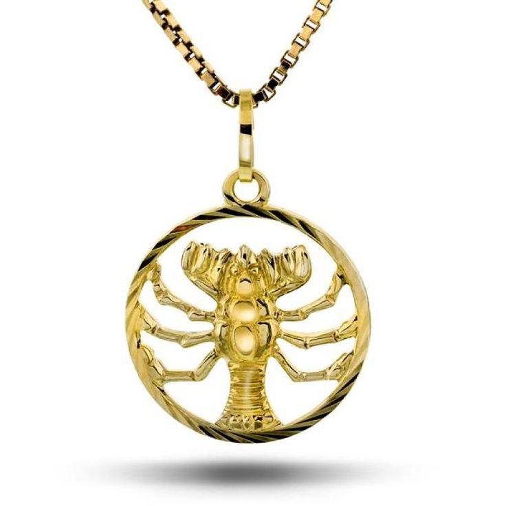 Anheng horoskop gull, kreps (fødselsgave fra mormor & bestefar)