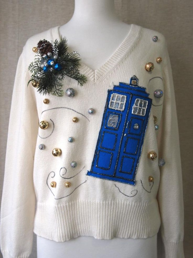 Doctor Who Christmas Sweater | Dr. Who themed Ugly Christmas sweater for sale on eBay. | Dr who?