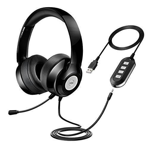 Headset with Microphone, USB Headset/ 3.5mm Computer Headphone Headset