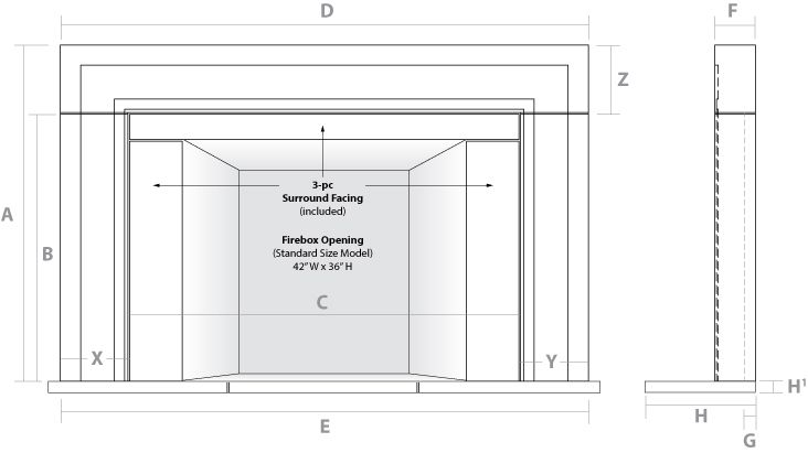 Summerford Marble Fireplace Mantel