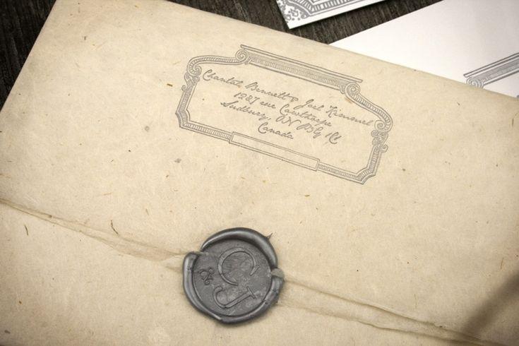 Vintage Sealed Wedding Invitation