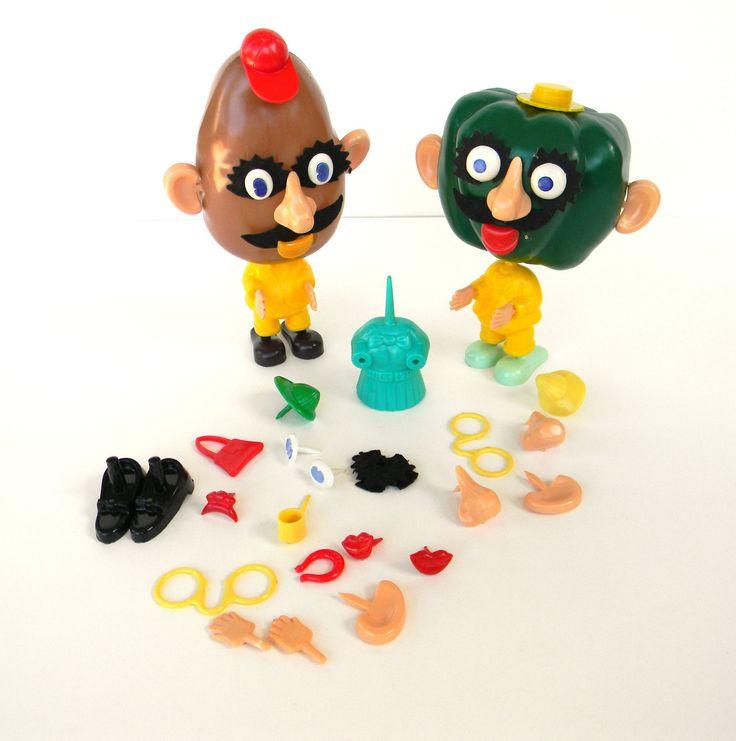 1960 Christmas Toys : Vintage hasboro pete the pepper and mr potato head s