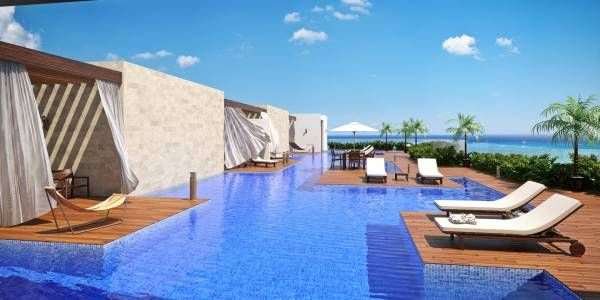 Cruz con Mar Condos for Sale in Playa del Carmen. Cruz con Mar offers beautiful apartments in Playa Mamitas in Playa del Carmen, the hot spot of the area. #PlayadelCarmen #RealEstate