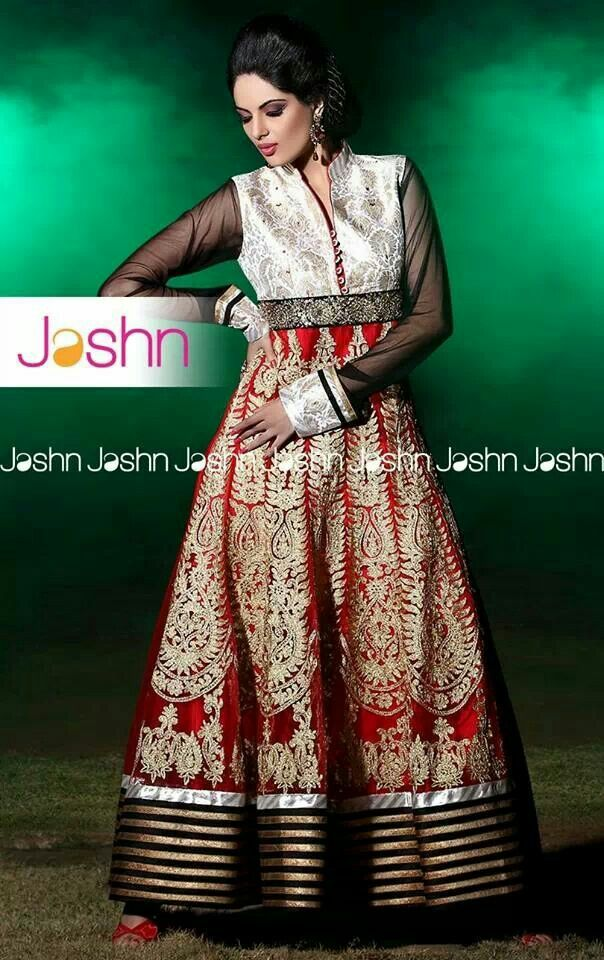 #Jashn #anarkali #Bridal #antique #gold #embroidery