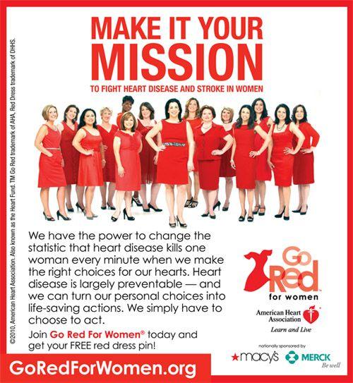 Go Red for Women.org #goredforwomen