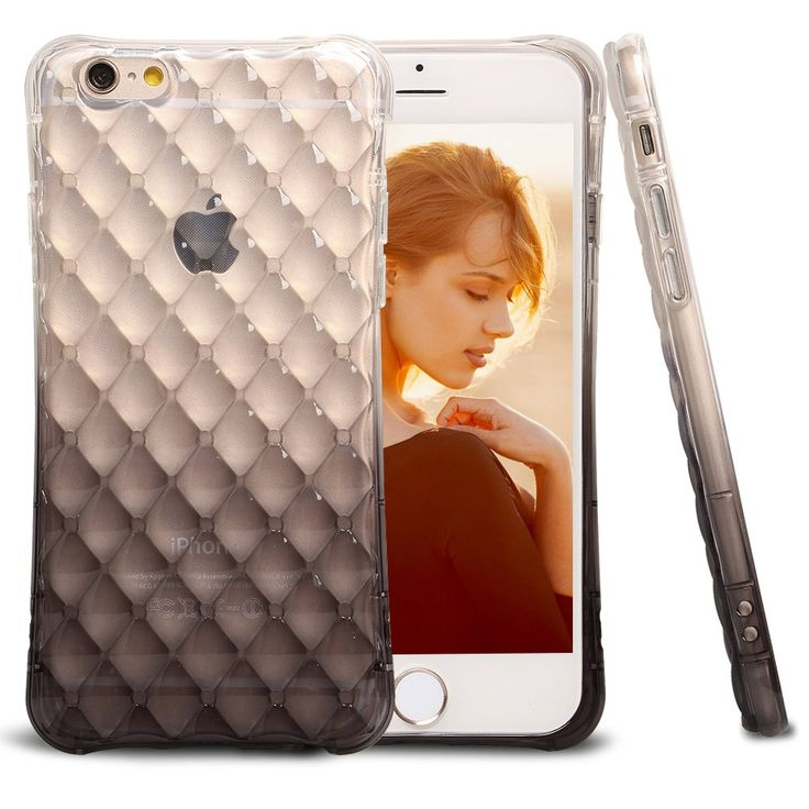 iPhone 6S Case,iPhone 6 Case,BAROX Clear Slim Shockproof Bumper Case with Soft Flexible TPU Material for iPhone 6/iPhone 6S 4.7 Inch (Black). The color changing gradually, this case looks stylish yet shows the perfect shape of the iPhone 6/6S. Air buffer