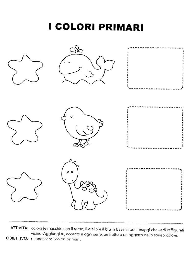 Schede didattiche colori primari scuola infanzia ov67 for Schede didattiche natale scuola infanzia