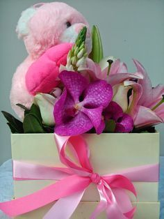 Http Flowers4u Gr Product Pink Flowers Box