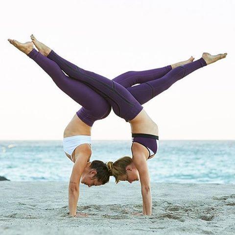 82 best group yoga poses images on pinterest  partner