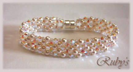 Free tutorial by diagram and instruction CrystalandPearlBracelet