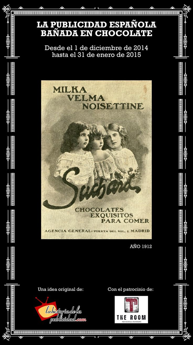 """Por aquí va otro ejemplo de los deliciosos anuncios que forman parte dela exposición """"La publicidad española bañada en chocolate"""" que el Museo de la Publicidad más Pequeño del Mundo ha montado en The Room. Más info en http://www.lahistoriadelapublicidad.com/blog-1698/nueva-exposicion-del-museo-de-la-publicidad-mas-pequeno-del-mundo-la-publicidad-espanola-banada-en-chocolate #SCPFcuidalapublicidad #smilefestival15 #roomadshistory #adshistorysmilefestival"""