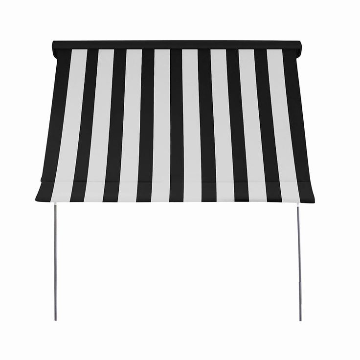 Windoware 1.5 x 2.1m Black/White Fixed Arm Outdoor Awning Blind