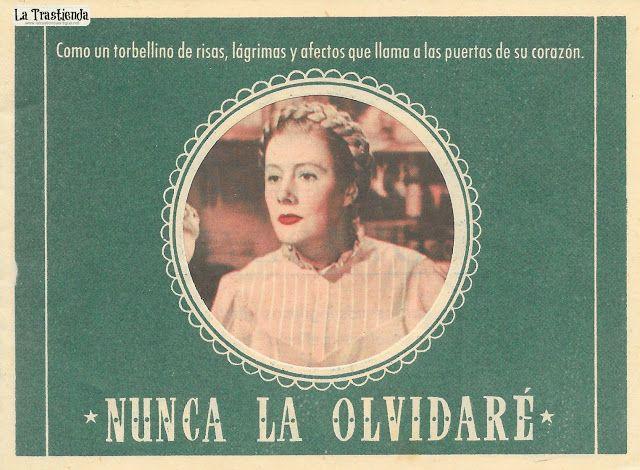 Nunca la Olvidaré - Programa de Cine - Irene Dunne - Barbara Bel Geddes - Oscar Homolka